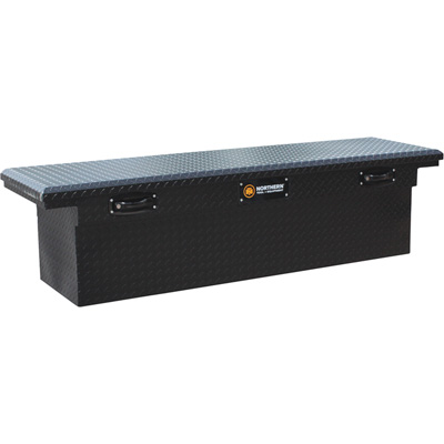 Northern Tool + Equipment Crossover Matte Black Truck Tool Box — Aluminum, 70in.