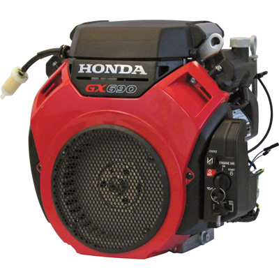 Honda V-Twin Horizontal OHV Engine with Electric Start — 688cc, GX Series, 5/16in.24 tap x 3in. Tapered Shaft, Model# GX690RHVXE2