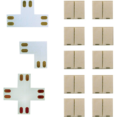 Canarm Flexible LED Tape Connectors Set 13 Piece, 4 Pin Joiners and Connectors, Model# LED5050CW13