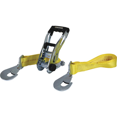 """SmartStraps RatchetX Tie Down with Snap Hook - 27ft. x 2in., 10,000-Lb. Breaking Strength, Yellow, Model# 858"""