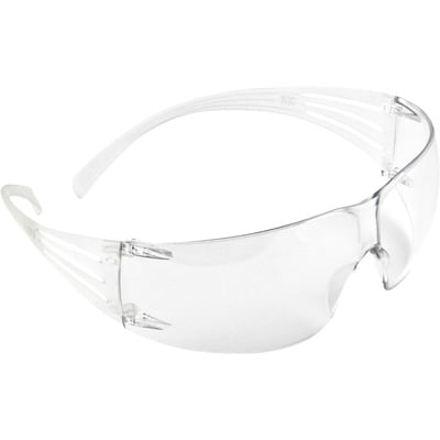3M SecureFit Safety Glasses — Clear Lens, Model# SF201AS
