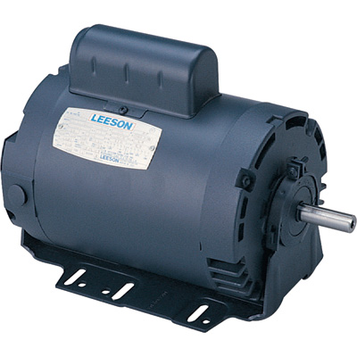 Leeson Instant Reversing Electric Motor 1/2 HP, 1,625 RPM, 115 Volts, Single Phase, Model# 100704