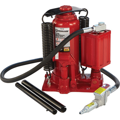 FREE SHIPPING — Strongway 12-Ton Air/Hydraulic Bottle Jack