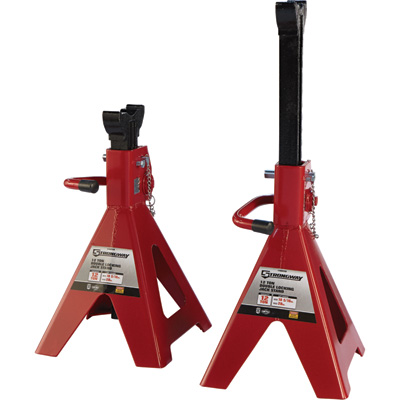 FREE SHIPPING — Strongway Double-Locking 12-Ton Jack Stands — Pair
