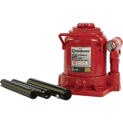 FREE SHIPPING — Strongway 20-Ton Hydraulic Stubby Bottle Jack