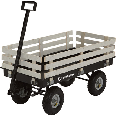 Strongway Garden Wagon with Rails — 1,200-Lb. Capacity, 46 3/8in.L x 23in.W
