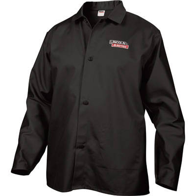 Lincoln Electric Flame-Retardant Welding Jacket — 32in. Sleeves, Black