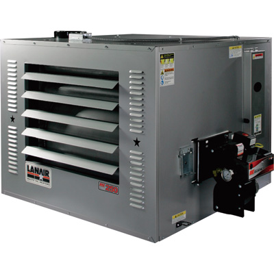 FREE SHIPPING — Lanair Waste Oil-Fired Thermostat-Controlled Heater — 250,000 BTU, 8500 Sq. Ft. Capacity, Model# MX-250