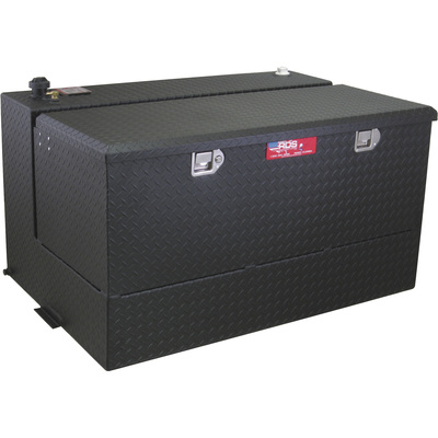 RDS Aluminum Transfer Fuel Tank Toolbox Combo — 95-Gallon, L-shaped, Black Diamond Plate, Model# 72367PC