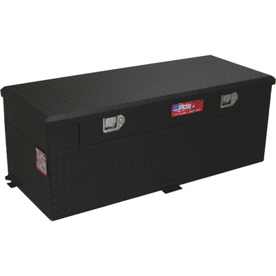 RDS Aluminum Auxiliary Fuel Tank Toolbox Combo — 51-Gallon, Rectangular, Black Diamond Plate, Fuel Filler Shroud, Model# 72746PC