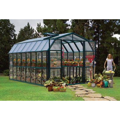 Rion Grand Gardener 2 Clear Greenhouse — 8ft.W x 16ft.L, Model# HG7216C