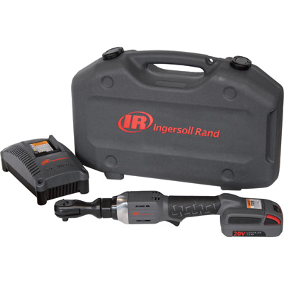 FREE SHIPPING — Ingersoll Rand IQV20 Series Cordless Ratchet Wrench Kit — 3/8in. Drive, Model# R3130-K12