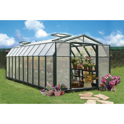 Rion Hobby Gardner 2 Twin-Wall Greenhouse — 8ft. x 20ft., Model# HG7120