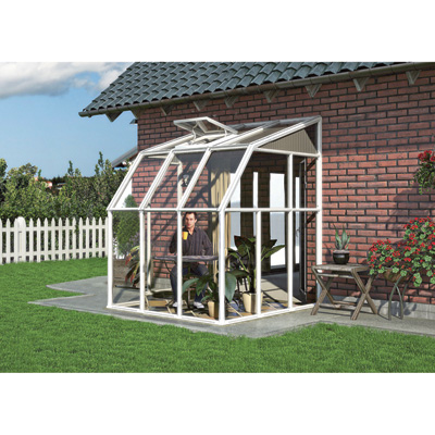 Rion Sun Room 2 Greenhouse — 6ft.L x 6ft.W. Model# HG7506