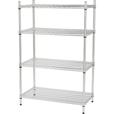 Strongway Heavy-Duty Wire Shelving System — 4 Shelves, 800-Lb. Capacity Per Shelf, 36in.W x 18in.D x 54in.H