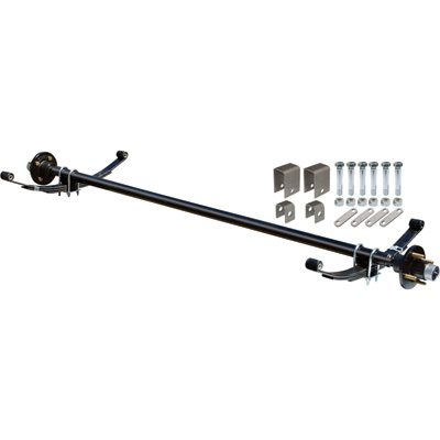 Ultra-Tow 2000-Lb. Capacity Complete Axle Kit — 60in. Hubface, 48in. Spring Center, 4-Bolt Pattern, 4in. Hubs