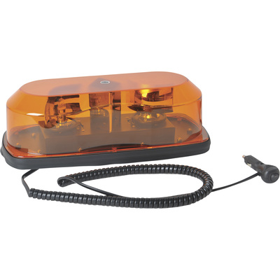 Ironton Twin Rotating Halogen Light Bar — Amber, Magnetic/Permanent Mount
