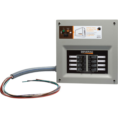 FREE SHIPPING — Generac HomeLink Prewired Manual Transfer Switch — 30 Amps, 8 Circuits, Model# 6852