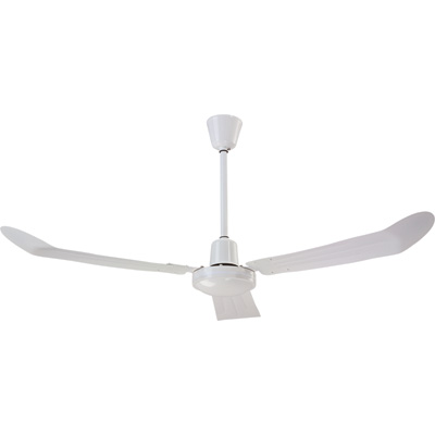 Canarm Industrial-Grade Downdraft Fan with Cord — 56in., White, 20,500 CFM, Model# CP561518111