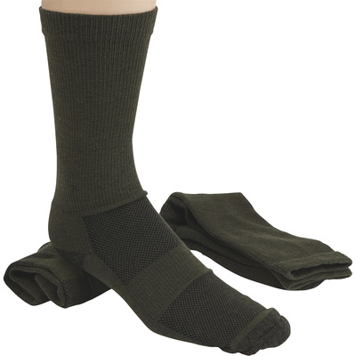 FREE SHIPPING - Gravel Gear Men's Ultra-Dri Midweight Socks - 2-Pair, Crew Length, Olive