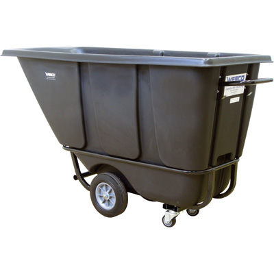 Wesco Poly Tilt Cart — Black