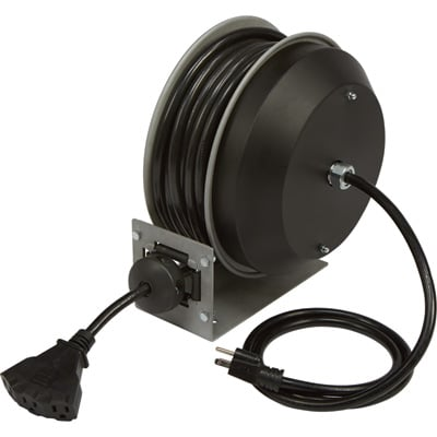 Strongway Retractable Cord Reel 30 Ft 12 3 Triple Tap