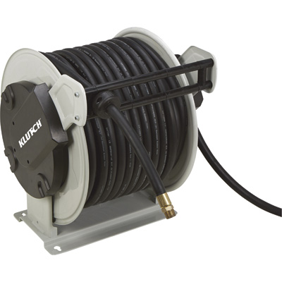 Klutch Spring-Driven Air Hose Reel — With 3/4in. x 130ft. NBR Rubber Hose
