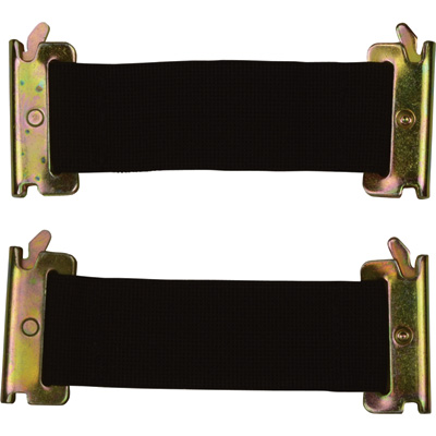 CargoSmart Standard Bungee Straps — 2-Pack, 2in.W x 6in.L, For E-Track and X-Track