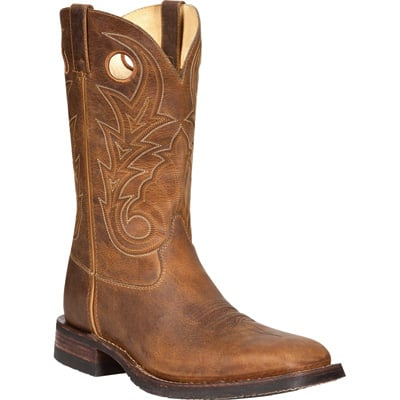 Rocky Men's 12in. Hand-Hewn Western Work Boots - Brown, Size 10 1/2, Model# FQ0004982