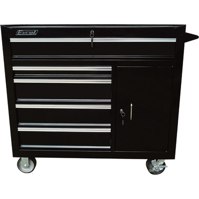 Excel 5-Drawer Rolling Tool Cabinet — 1,000-Lb. Capacity, Model# TB4015B-BLACK