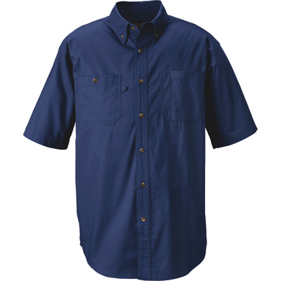 Gravel Gear Men's Wrinkle-Free Short Sleeve Work Shirt with Teflon Fabric Protector