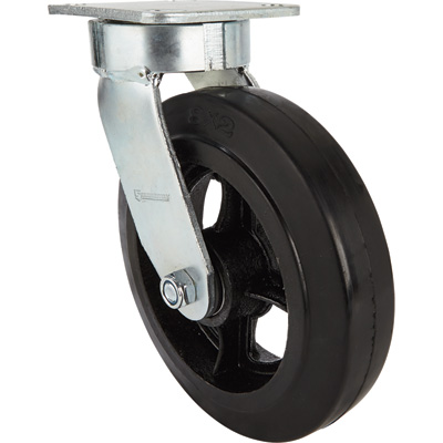 Strongway 8in. Swivel Kingpinless Rubber/Steel Core Caster — 900-Lb. Capacity