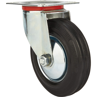 Ironton 5in. Swivel Rubber Caster — 220-Lb. Capacity