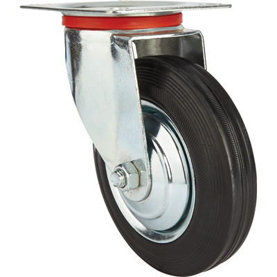 Ironton 6in. Swivel Rubber Caster — 320-Lb. Capacity
