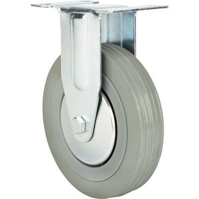 Strongway 5in. Rigid Nonmarking Rubber Caster — 220-Lb. Capacity