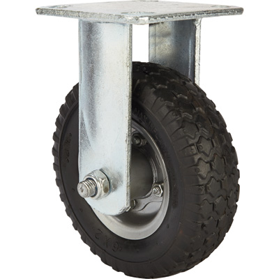Strongway 6in. Rigid Flat-Free Rubber Foam-Filled Caster — 200-Lb. Capacity, Knobby Tread