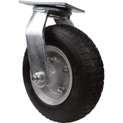 Strongway 8in. Swivel Flat-Free Rubber Foam-Filled Caster — 250-Lb. Capacity, Knobby Tread