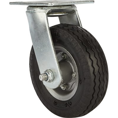 Strongway 6in. Swivel Flat-Free Rubber Foam-Filled Caster — 200-Lb. Capacity, Sawtooth Tread