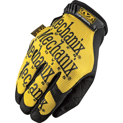 Mechanix Men's Wear Original Gloves - Yellow, 2XL, Model# MG-01-012