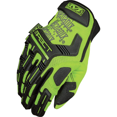 Mechanix Men's Wear Safety M-Pact Gloves - High-Visibility Yellow, Small, Model# SMP-91-008