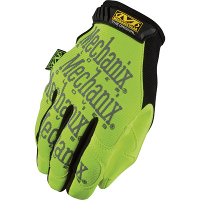 Mechanix Men's Wear Safety Original Glove - Hi-Vis Yellow, XL, Model# SMG-91