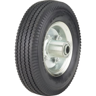 Ironton 8in. Pneumatic Wheel and Tire— 250-Lb. Capacity, Sawtooth Tread