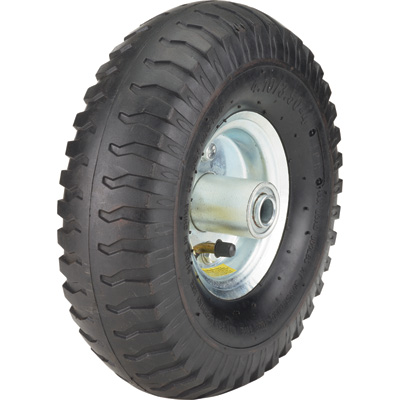 Ironton 10in. Pneumatic Wheel and Tire— 300-Lb. Capacity, Lug Tread