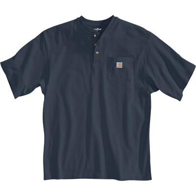 Carhartt Men's Short Sleeve Workwear Henley - Bluestone, XL Tall, Model# K84