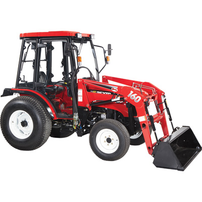 NorTrac 35XTC 35 HP 4WD Tractor with Front End Loader — With Turf Tires