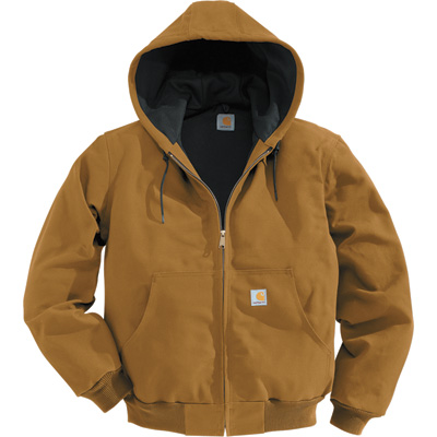 Carhartt Men's Duck Active Jacket — Thermal-Lined, Big Style, Model# J131