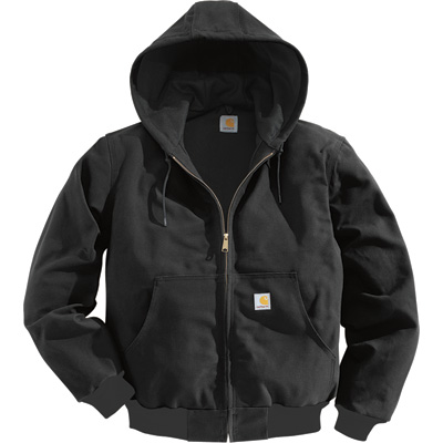 Carhartt Men's Duck Active Jacket - Thermal-Lined, Black, 4XL, Tall Style, Model# J131