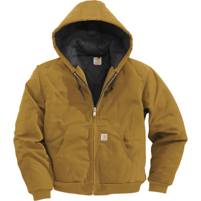 Carhartt Men's Duck Active Jacket - Quilt-Lined, Brown, Large Tall, Model# J140