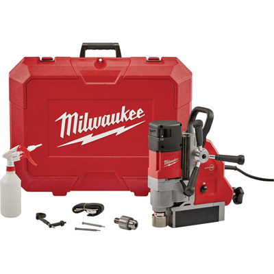 FREE SHIPPING — Milwaukee Permanent Corded Electric Magnetic Drill Press — 1 5/8in. Drill Capacity, 13 Amp, 2.3 HP, Model# 4274-21