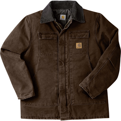 Carhartt Men's Sandstone Traditional Quilt-Lined Coat - Dark Brown, XL Tall, Model# C26